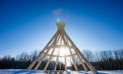 World's Tallest Wooden Teepee, Fort Simpson, Dehcho Region