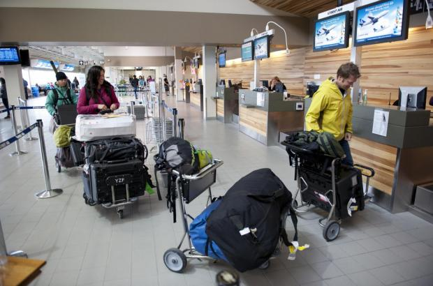 Check-in at Yellowknife Airport, North Slave Region