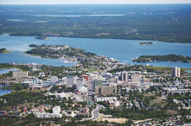 City on the Shores of Great Slave Lake, North Slave Region