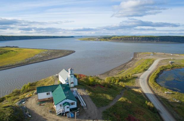 Arctic Red River, Mackenzie River, Tsiigehtchic, Beaufort Delta Region