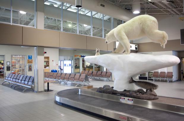 Arrivals Hall at Yellowknife Airport, North Slave Region