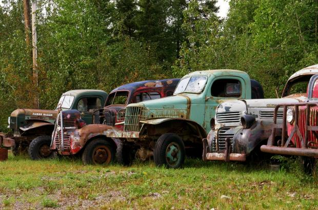 Old Trucks at the Sahtu Aviation Museum, Norman Wells, Sahtu Region