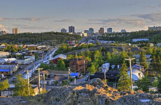 View of Downtown Yellowknife from Old Town, North Slave Region