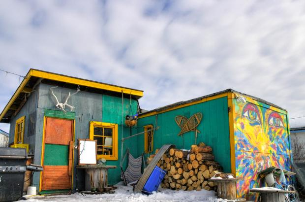 Colourful Shack in Old Town, Yellowknife, North Slave Region