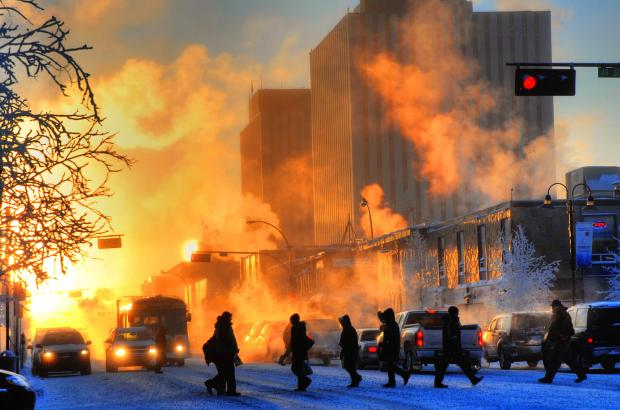 Winter in Downtown Yellowknife, North Slave Region