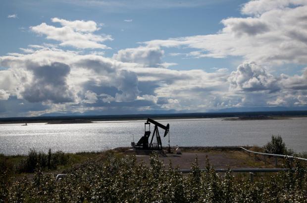 Oil Derrick, Norman Wells, Sahtu Region