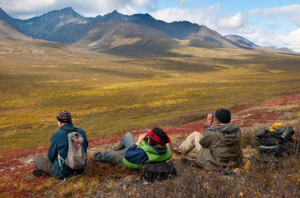 View of Mackenzie Mountains, Dechenla Lodge, Sahtu Region
