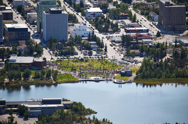 Somba K'e Park, Frame Lake, Yellowknife, North Slave Region
