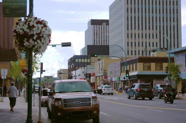 Summer in Downtown Yellowknife, North Slave Region