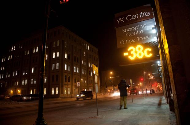 -38°C, Downtown Yellowknife, North Slave Region