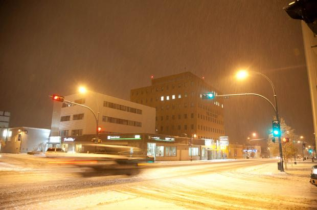 Winter on Franklin (50th) Avenue, Yellowknife, North Slave Region